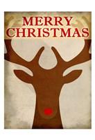 Reindeer Christmas Fine Art Print