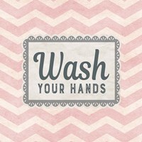 Wash Your Hands Pink Pattern Fine Art Print