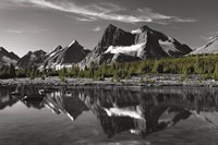 Amethyst Lake Reflection BW with Color Fine Art Print