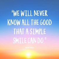 Simple Smile - Mother Teresa Quote (Dawn) Fine Art Print
