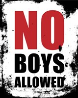 No Boys Allowed - White Grunge Fine Art Print