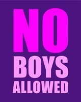 No Boys Allowed - Purple Fine Art Print
