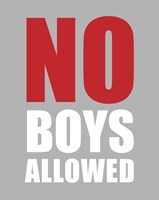 No Boys Allowed - Gray Fine Art Print