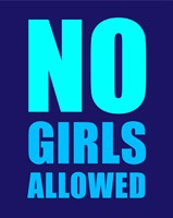 No Girls Allowed - Navy Fine Art Print