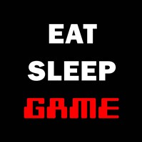 Eat Sleep Game - Black Framed Print