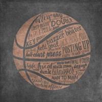 Basketball Terms Fine Art Print
