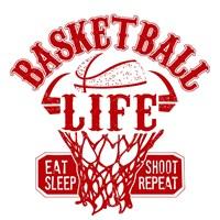 Basketball Life Red Fine Art Print