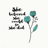 She Designed Fine Art Print