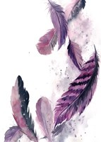 Purple Feathers III Fine Art Print