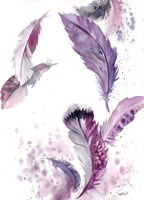 Purple Feathers IV Fine Art Print