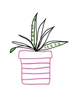 Pink Pot Succulent Fine Art Print
