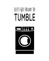 Let's Get Ready To Tumble - White Fine Art Print