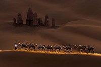 Castle And Camels Fine Art Print