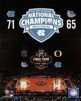 University of North Carolina Tar Heels 2017 NCAA Men's College Basketball National Champions Composite Fine Art Print