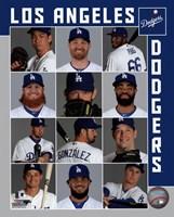 Los Angeles Dodgers 2017 Team Composite Fine Art Print