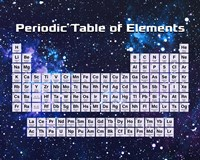 Periodic Table Of Elements Space Theme Fine Art Print