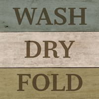 Wash Dry Fold Painted Wood Fine Art Print