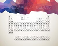 Periodic Table Of The Elements Abstract Low Poly Shape Fine Art Print
