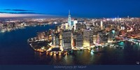 New York Downtown by Night Fine Art Print
