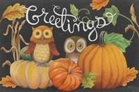 Harvest Owl I Fine Art Print