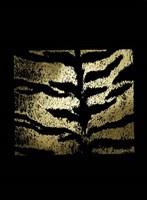 Gold Foil Tiger Pattern on Black Fine Art Print