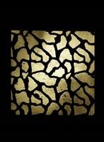 Gold Foil Giraffe Pattern on Black Fine Art Print