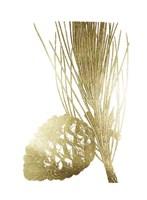 Gold Foil Pine Cones I Fine Art Print