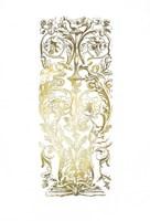 Gold Foil Renaissance Panel I Fine Art Print