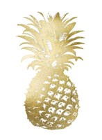 Gold Foil Pineapple II Fine Art Print