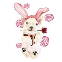Valentine Puppy I Fine Art Print