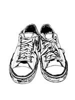 BW Shoes Fine Art Print
