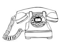 BW Vintage Phone Fine Art Print
