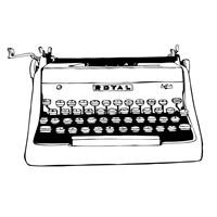 BW Vintage Typewriter Fine Art Print