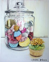 Cupcake And Wrappers Fine Art Print