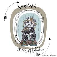 Panda With Words Fine Art Print