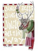 Reindeer With Scarf Fine Art Print