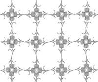Thistle Flower Pattern Fine Art Print