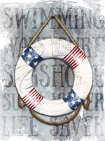 Life Preserver Patriotic Nautical Fine Art Print