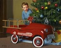 1950 Murray Fire Truck Fine Art Print