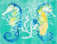 Seahorses on Coral Fine Art Print