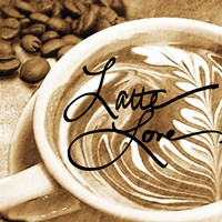 Cafe Swirls I Fine Art Print