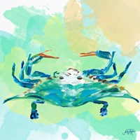 Watercolor Sea Creatures I Fine Art Print