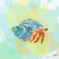 Watercolor Sea Creatures II Fine Art Print