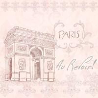 Elegant Paris Square II Fine Art Print