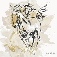 Free Spirit in Gold I Fine Art Print
