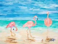 Flamingo Beach I Fine Art Print