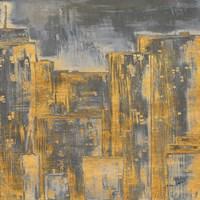 Gold City Eclipse Square II Fine Art Print