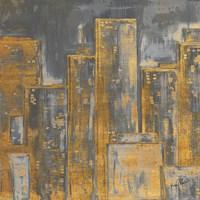Gold City Eclipse Square I Fine Art Print