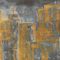 Gold City Eclipse Square III Fine Art Print