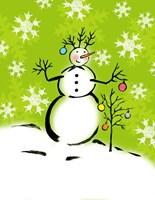 Silly Snowmen IV Fine Art Print